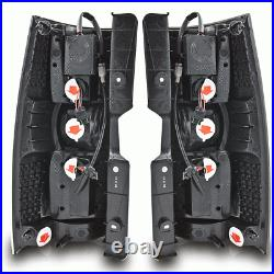 Fits 07-14 Chevy Suburban Tahoe LED Tail Brake Lights Glossy Black Clear Lens
