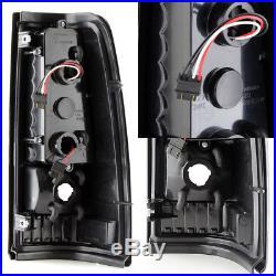 Fits 1999-2002 Chevy Silverado 1999-2003 GMC Sierra Black LED Tail Lights Lamps