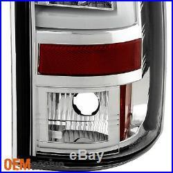 Fits 2003-2006 Chevy Silverado GMC Sierra 1500 2500HD 3500 Clear LED Tail Lights