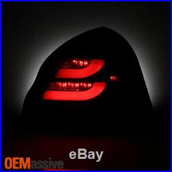 Fits 2004-2008 Pontiac Grand Prix Black Smoked LED Tube Tail Lights