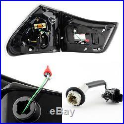 Fits 2004-2009 Lexus RX330 RX350 LED Tail Lights 4Pcs Black Rear Brake Lamps L+R