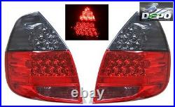 Fits 2007-2008 Honda Fit Jazz GD3 FULL LED RED SMOKED Tail Lights DEPO