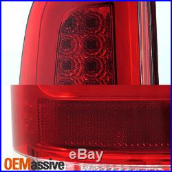 Fits 2008-2016 Ford F-250 F-350 F-450 Super Duty LED Light Bar Tail Lights Red