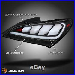 Fits 2010-2015 Hyundai Genesis Coupe 2Dr Black Full LED Sequential Tail lights