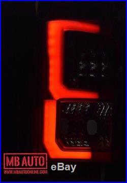 Fits 2015 2016 2017 Ford F-150 Smoked Black Premium LED Tail Lights F150 Winjet