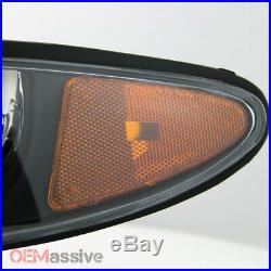 Fits 97-03 Grand Prix Black Bezel Headlights Replacement + LED Black Tail Lights
