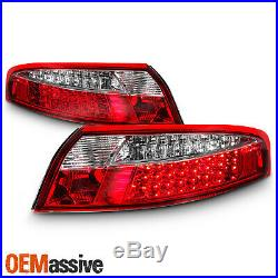 Fits 98-04 Porsche 911 996 99-04 Porsche Carrera 4 Red Clear Full LED Tail Lamps