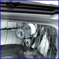 Fits 99-04 F250/350 Superduty Smoked Headlights + Smoked LED Tail Lights Pair