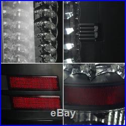 Fits Black Smoked 2007-2013 GMC Sierra 1500 2500HD 3500HD LED Tail Lights Set