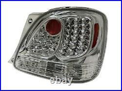 Fits Lexus 1998-2005 Gs300 Gs400 Gs430 Led Look Tail + Trunk Lights Chrome