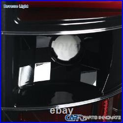 For 00-06 Chevy Suburban Tahoe GMC Yukon Pearl Black LED Bar Tail Brake Lights