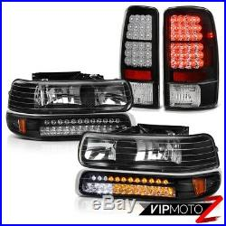 For 00-06 Chevy Tahoe/Suburban 5.3L SMD Bumper+Headlights LED Bulbs Tail Light