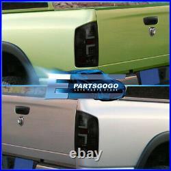 For 02-06 Dodge Ram 1500 2500 3500 Black Smoke LED Brake Tail Lights Lamps Pairs