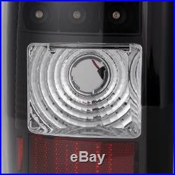For 03-06 Chevy Silverado 05-06 GMC Sierra LED Blk Tail Lights Lamp Pair
