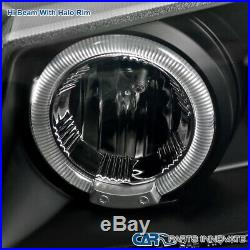 For 03-07 Silverado Black Halo Projector Headlights+Bumper Lamps+LED Tail Lights