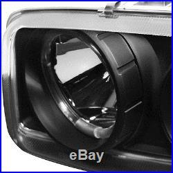 For 04-06 Sierra Black Halo Projector Headlights Bumper Set + LED Tail Lights