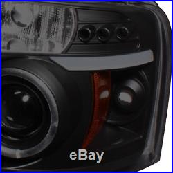 For 04-08 F150 Mystery Black Smoked Halo Pro Headlights + Smoked LED Tail Lights