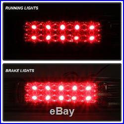 For 04-08 Ford F-150 Black LED Tail Lights + Smoked LED 3rd Brake Lamp 2004-2008
