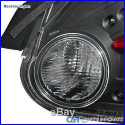 For 04-08 Nissan Maxima Black LED Rear Brake Parking Lamps Tail Lights Pair DEPO
