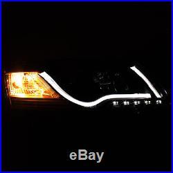 For 05-08 A6 (C6) Black Optic-Tube DRL Pro Headlights + Smoke V2 LED Tail Lights