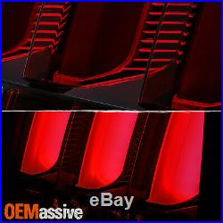 For 05-09 Ford Mustang Red Tube LED Chrome Smoked Tail Light withSequential Signal