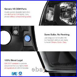 For 05-11 Toyota Tacoma Smoked Led Tube Tail Raven Black Head Lights Replacement