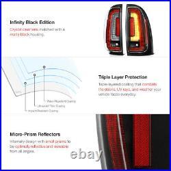 For 05-15 Toyota Tacoma LED Strip Brake Signal Lamp Black Housing Tail Light