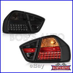 For 06-08 BMW E90 323 325 328 330 335 Smoke Tinted High Power LED Tail Lights