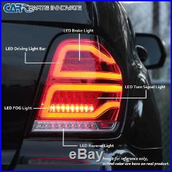 For 06-11 Mercedes Benz W164 ML-Class Black Full LED Tail Lights Brake Lamps