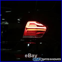 For 06-11 Mercedes Benz W164 ML-Class Red Clear Full LED Tail Lights Brake Lamps