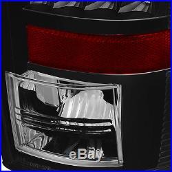 For 07-08 Ram 1500, 07-09 2/3500 Black Halo Pro Headlights + LED Tail Lights