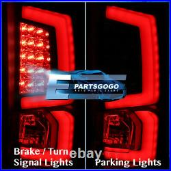 For 07-13 Chevy Silverado 1500 2500HD 3500HD LED Red Tube Tail Lights Lamp Black