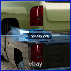 For 07-13 Chevy Silverado 1500 2500HD 3500HD LED Tube Tail Lights Lamp Red Smoke