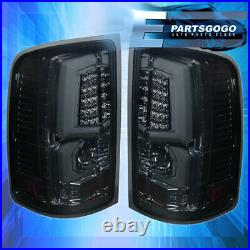 For 07-13 GMC Sierra 1500 2500HD 3500HD LED Brake Tail Lights Lamps Smoked Lens