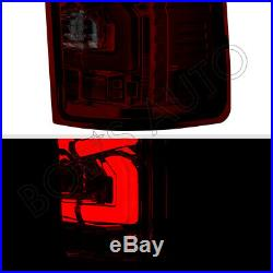 For 07-13 GMC Sierra 1500 2500 3500 Dark Smoke High Power LED Tube Tail Lights