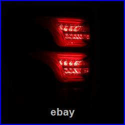 For 09-14 Ford F150 Jet Black LED Tail Lights Rear Brake Lamps Pair