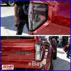 For 09-14 Ford F150 RAPTOR STYLE Black LED Neon Tube Tail Lights Lamp PAIR NEW