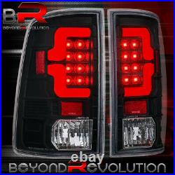 For 09-18 Dodge Ram 1500 / 10-18 2500 3500 Black Housing Red LED Tail Lights