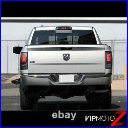 For 09-18 Dodge Ram 1500 2500 3500 Smoke Tinted LED Brake Tail Light Signal Lamp