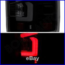 For 14-17 GMC Sierra 1500 2500 3500 Black Smoke High Power LED Tube Tail Light