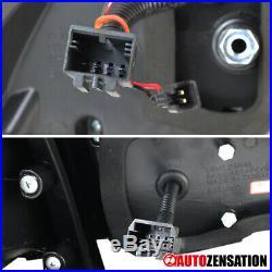 For 15-17 VW GTI Golf MK7 Black Full LED Replacement Tail Lights Brake Lamp Pair