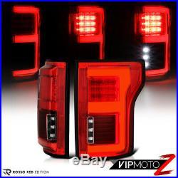 For 15-18 Ford F150 Blind Spot Sensor Models Red LED Light Bar Tail Brake Lamp