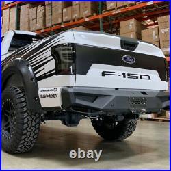 For 15-20 Ford F150 AlphaRex PRO-Series LED Tail Lights Black Housing Smoke Lens