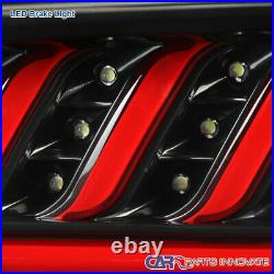 For 16-18 Chevy Camaro Black LED Sequential Tail Lights Tinted Turn Signal Pair
