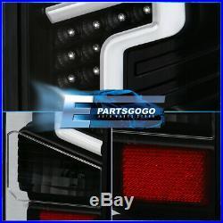 For 18-20 Ford F150 Black LED Tube Streak Tail Light Brake Lamps Assembly Lh+Rh