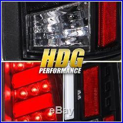 For 1988-1998 Chevy GMC C/K 1500 2500 Black Housing LED Clear Lens Tail Light
