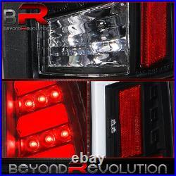 For 1988-1998 Chevy Gmc C/K C1500/K1500 White LED Tube Black Tail Lights Lamps