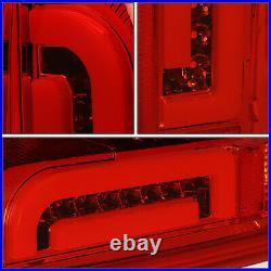For 1990-1997 Ford F150 F250 Bronco Styleside LED Bar Tail Brake Light Lamps Red