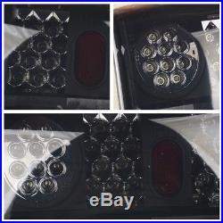 For 1993-1999 Ford Ranger LED Tail Light Black Smoke Brake Rear Lamps Left+Right