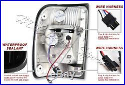 For 1993-2000 Ford Ranger Dark Smoke Lens LED Rear Brake Tail Lights Lamps